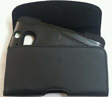 FOR HTC ONE M8  XL HOLSTER BELT CLIP LOOP POUCH FIT WITH A HYBRID CASE ON