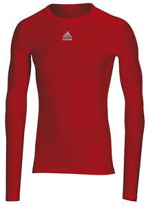 Adidas-Laufshirt-rot-Techfit-Shirt-Funktionsshirt-Sportshirt-Gr-XXL