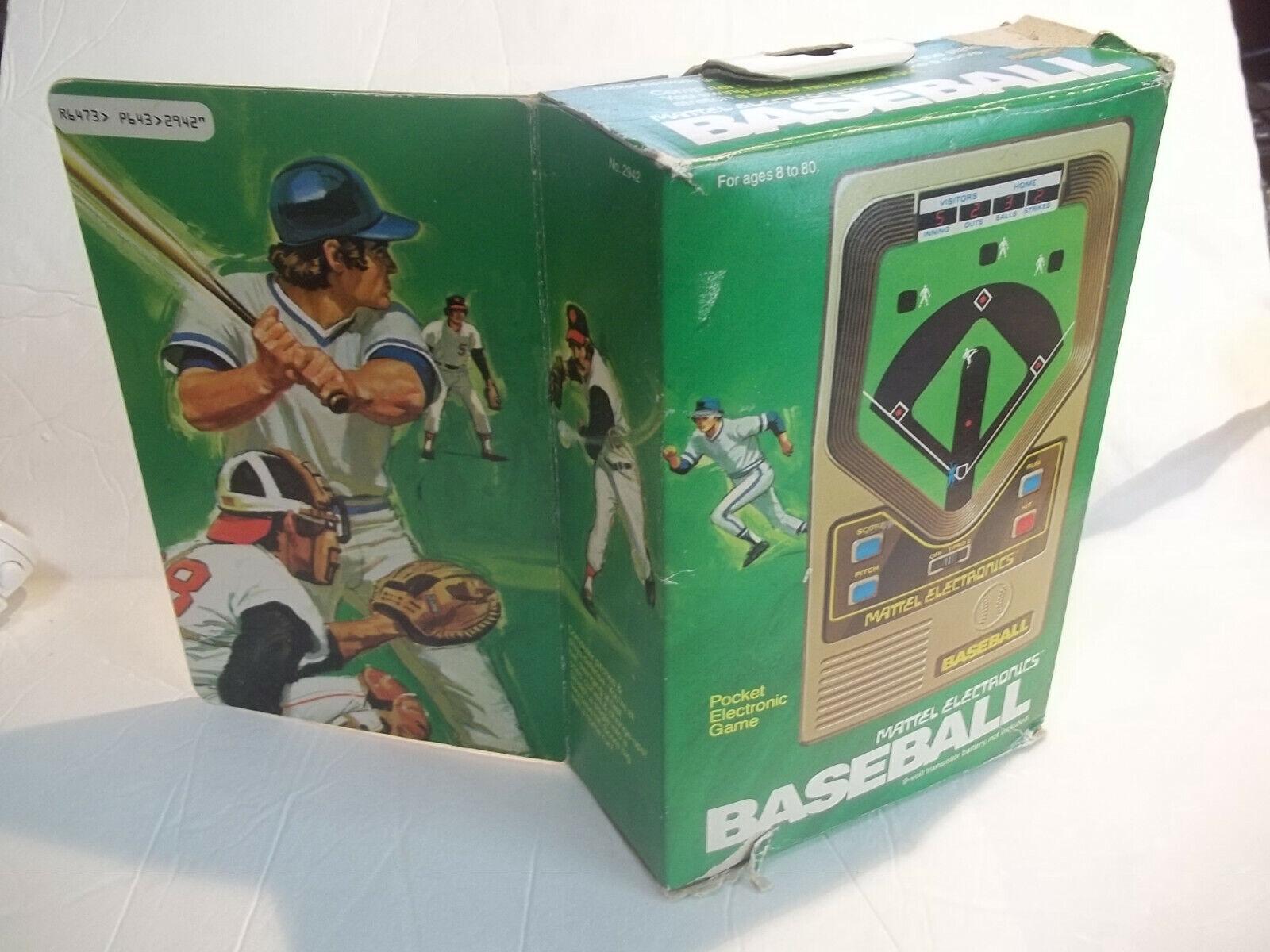 Original Vintage Mattel Electronics Béisbol - 1978-en caja original con el libro