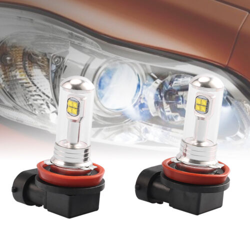 2X H8 H11 6000K 80W High Power Led Fog Driving Light Canbus Lamp Bulb WhitFEH