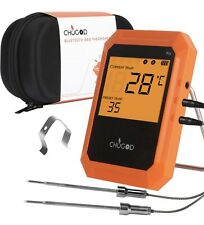 BBQ Digital LCD Meat Thermometer APP Controlled Bluetooth With 2 Probes