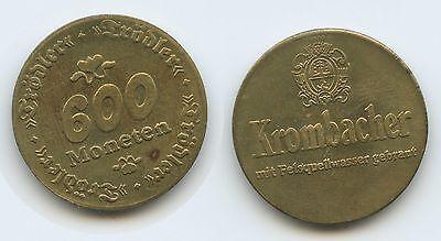 Biermarke Krombacher 600 Moneten Trödler Bierzeichen Zielsetzung M191 Jetons, Marken & Zeichen