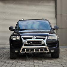 VW TOUAREG CHROME AXLE NUDGE A-BAR, STAINLESS STEEL BULL BAR 2003-2009 NEW
