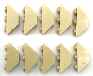 Lego 10 New Tan Slopes Inverted 45 3 x 1 Double Sloped