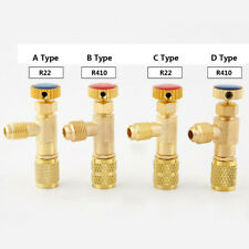 Liyeehao Refrigeration Valve Air Conditioning Refrigerant Control Valve Fluoride Charging Adapter Tools Air Conditioning Recharge Kit Low Loss Fittings HVAC Low Loss Fittings HVAC for R410 Red