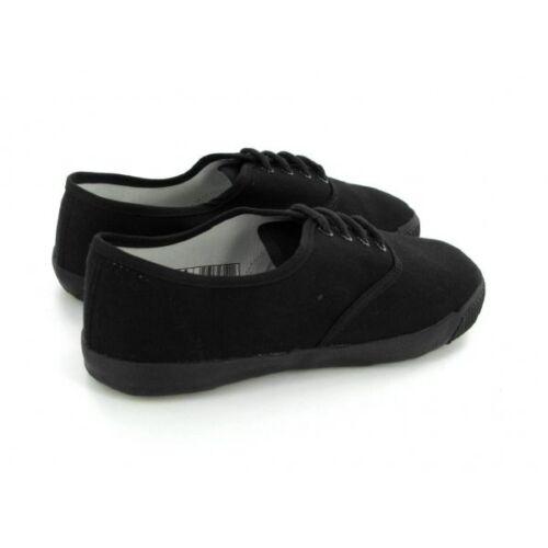 DEK Boys Girls Junior Kids Canvas 4 Eye Classic School Lace-Up Plimsolls Shoes