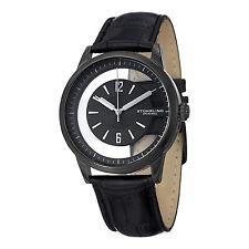 Stuhrling Original Men's 946.03 Winchester Quartz Black Dial Leather Strap Watch