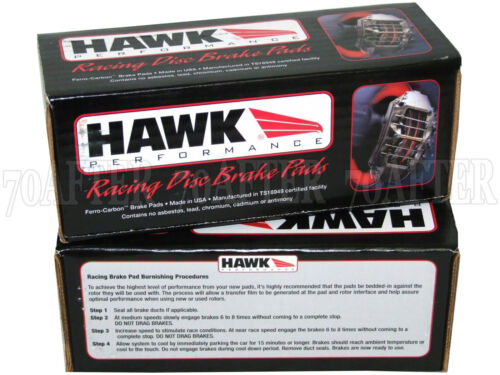 for 93-97 Honda Del Sol Si SOHC Front /& Rear Set Hawk Race HP Plus Brake Pads