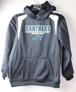 premium selection 67ede 6b61b Details about NFL TEAM APPAREL YOUTH CAROLINA PANTHERS HOODIE SWEATSHIRT  BLACK SIZE L 12-14*