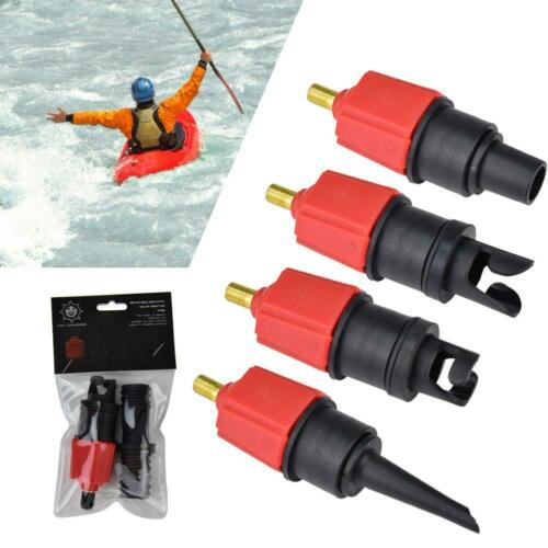 Inflatable Boat Pump Valve Adapter Sup Board Air Compressor Adaptor Tools Kit