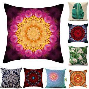 Vintage-Coton-Lin-Housse-de-Coussin-Taie-d-039-oreiller-Cushion-Cover-Canape-Decor