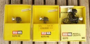 Brawa-5370-H0-4-x-Scheinwerfer-Flutlicht-DDR-DR-Epoche-3-6-Stadionbeleuchtung
