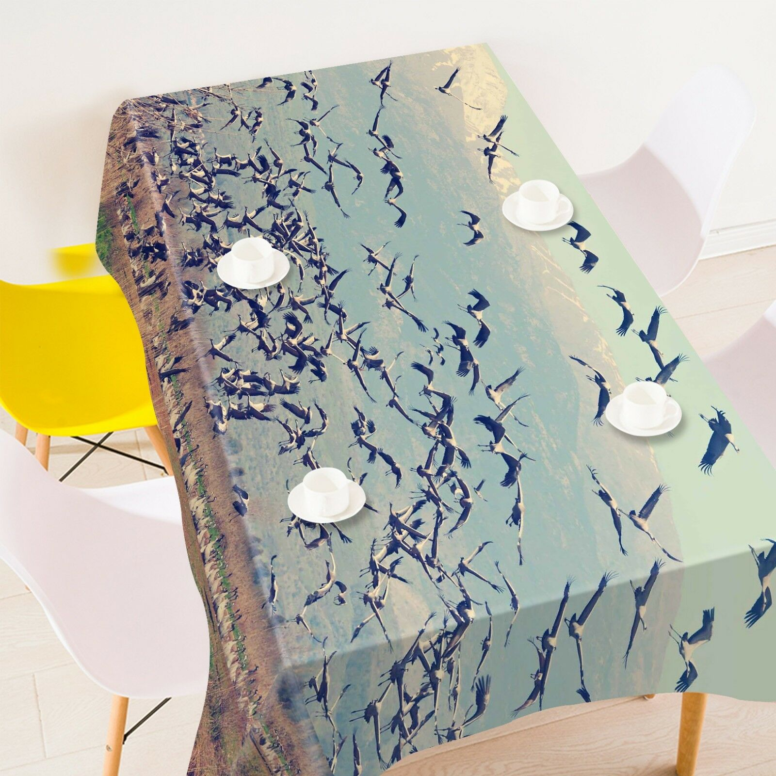 3D Sea Birds 23 Tablecloth Table Cover Cloth Birthday Party Event AJ Lemon