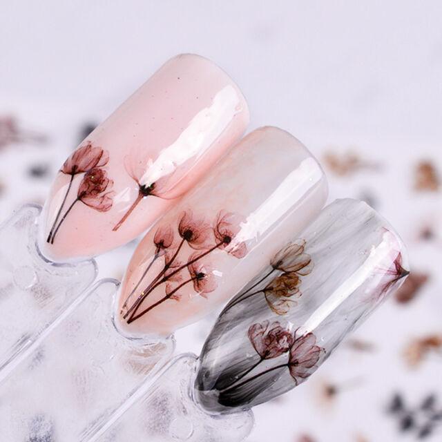 2pcs Dandeli Flower 3d Nail Stickers Nail Art Adhesive Transfer