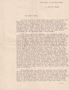 Raoul-DUFY-Lettre-signee-avec-annotation-autographe-1946