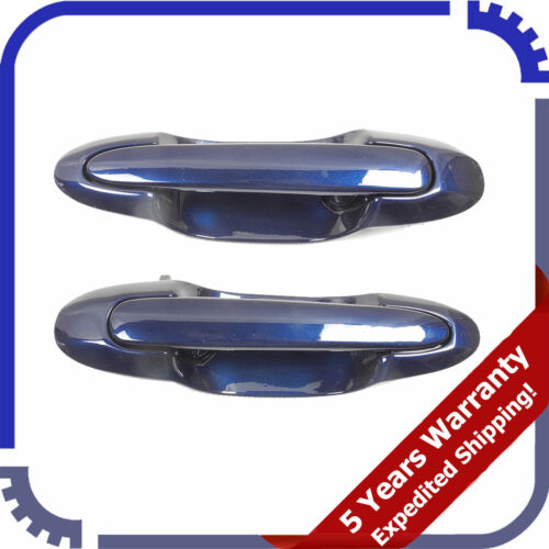 For 2000-2006 Mazda MPV Rear Pair Outer Outside Door Handle SET 25B Blue DS383
