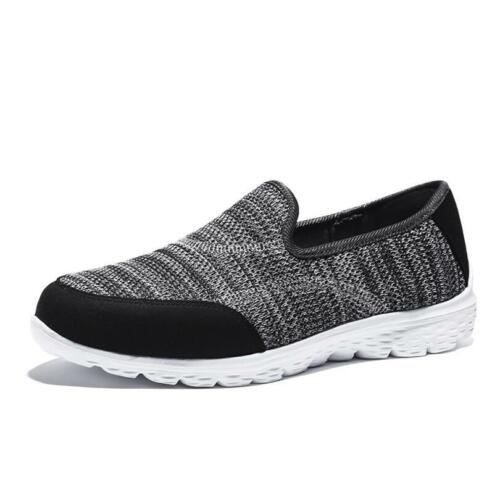 New Women Slip On Memory Foam Casual Fitness Gym Walking Running Trainers Shoes