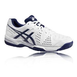 Asics Hommes Gel-Dedicate 4 Tennis Chaussures De Sport Baskets Blanc Sport S