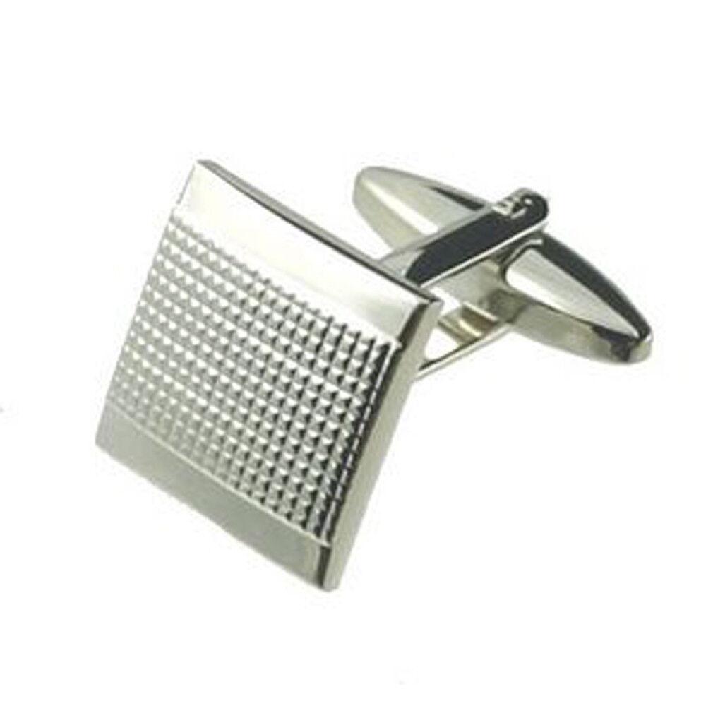 COPPIA di Pin argentoo Square Gemelli opzionale incisa personalizzata personalizzata personalizzata Scatola d25ade