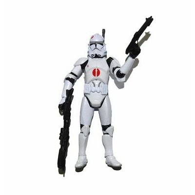 "Star Wars Clone Wars Red Dot Clone Trooper Target Excl 3.75"" Loose Action Figure"