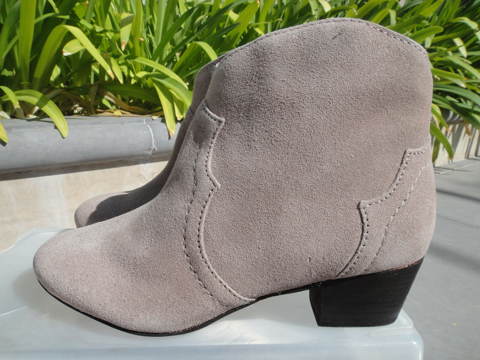 Schutz ABIHA Boot Bootie Taupe Taupe Taupe Goat Suede, Dicker Style w/Inside Zip, US Sz 7M 699d04