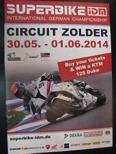 Programmaboekje IDM Superbike Circuit Zolder (BEL) 30-5 / 1-6 - 2014