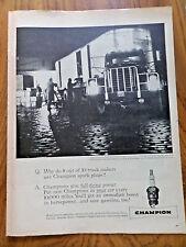1958 Champion Spark Plugs Ad Big Rig Unloads @ Philadelphia's Dock Street Market