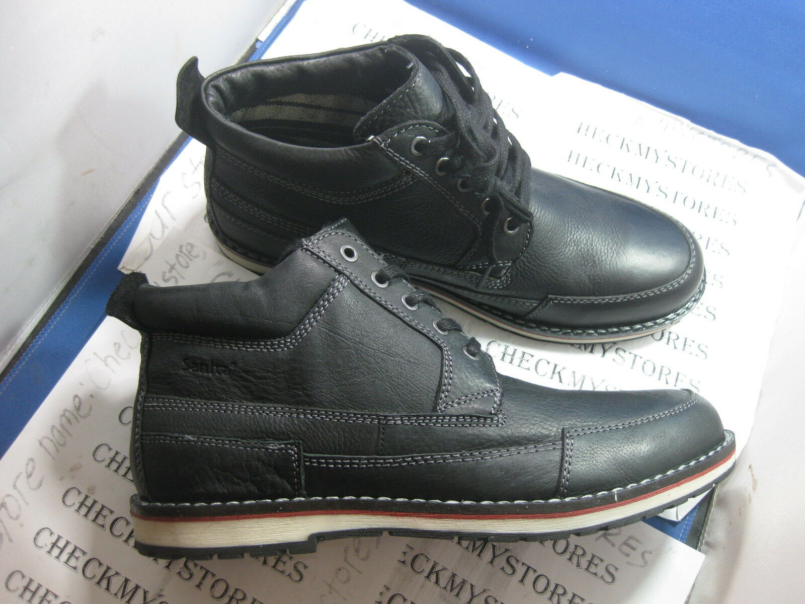 Nueva Nueva En Caja Sanita 461981 Premium Europea Zapato Maker Sanita botas De Cuero Hechos A Mano