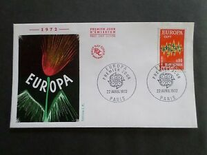 FRANCE-1972-FDC-1-JOUR-EUROPA-COMPOSITION-FLOREALE-VF