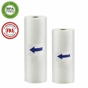2-Rolls-11x50-8x50-Embossed-Vacuum-Sealer-Bags-Kitchen-Food-Saver-Storage-Home