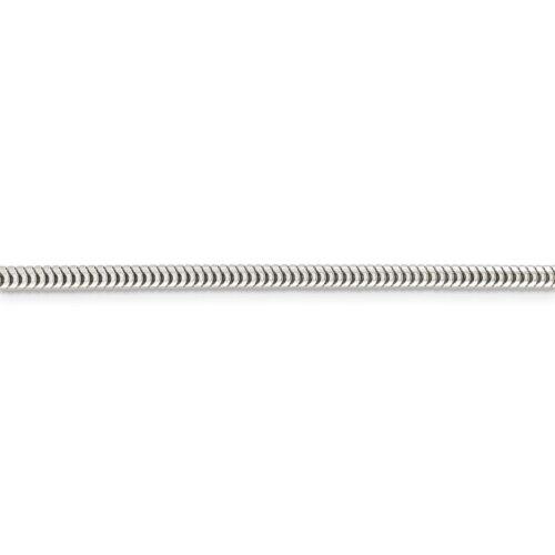 Sterling Silver 3.00 mm ronde chaîne serpent Collier ou Bracelet qsnl 080