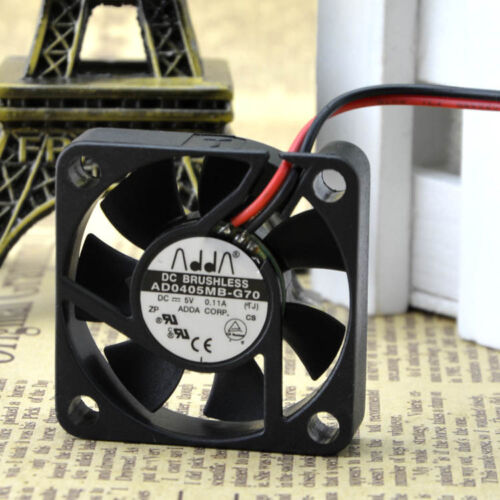 ADDA AD0405MB-G70 DC5V 0.11A  40x40x10mm Silent Case Cooling Fan 2 Pin Connector