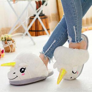 Unicornio Adulto Zapatillas Invierno Hombre Zapatos Felpa De Mujer HwqqFa1