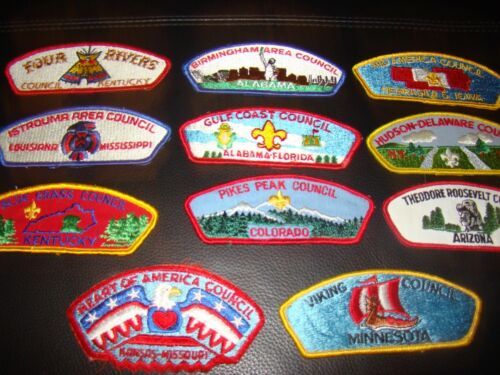 LOT OF 11 BOY SCOUT SHOULDER AND FLAP PATCHES