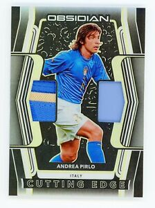 2020-21 Obsidian Soccer Andrea Pirlo Cutting Edge Jersey Patch Yellow /10 Italy