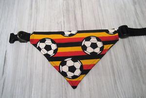 Fussball-Deutschlandflagge-Halsband-verstellbar-42-54-cm-Hundehalstuch-Halstuch