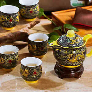 Golden dragons porcelain teapot set can steroids come in pill form