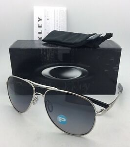 6b2ff727bb4 Image is loading Polarized-OAKLEY-Sunglasses-ELMONT-M-OO4119-0258-Chrome-