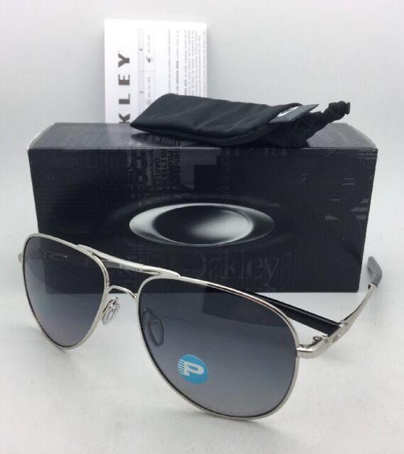 bd989507f6b Polarized OAKLEY Sunglasses ELMONT L OO4119-0260 Chrome Aviator w  Grey  Gradient