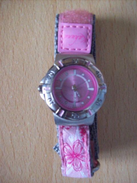 Watch Ladies Girls Kahuna 5 ATM Water Resistant Watch Pink & Silver + Zip Case