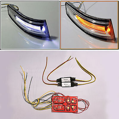 2way Led Side Rear View Mirror Light Lamp Turn Signal