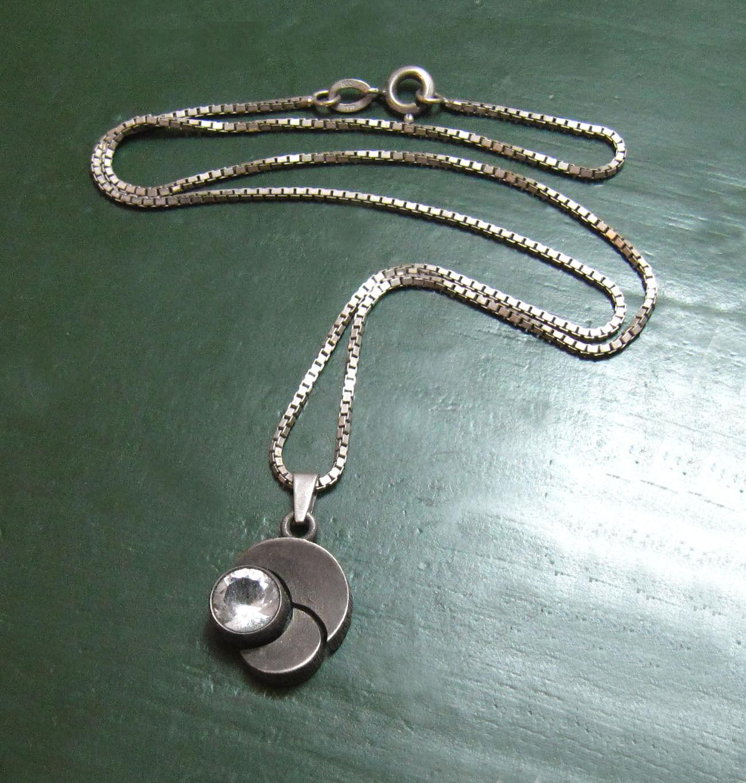 Finnland 925 Design-silverKETTE m. Bergkristall • Karl Laine Finnfeelings