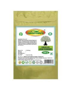 Naturmeds Hibiscus Leaf Powder 100 Grams Pouch Free Shipping 100