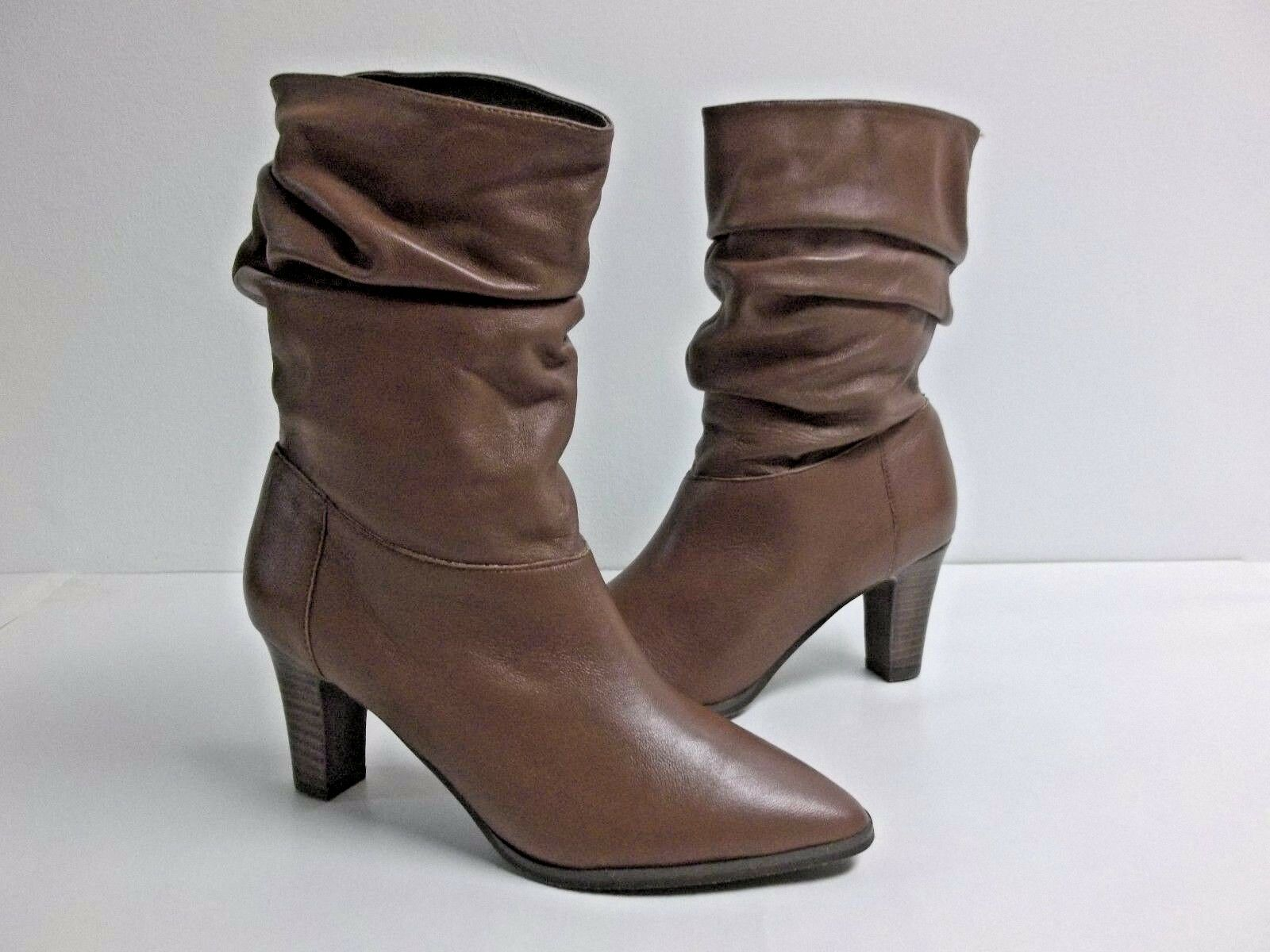 Adrianna Papell Size Calf 8 M NOELLE Brown Pelle Mid Calf Size Stivali New Donna Shoes 8749a2