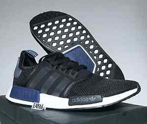 f2b712fbc Adidas Originals NMD R1 Core Black Sports Navy Blue White S76841 ...