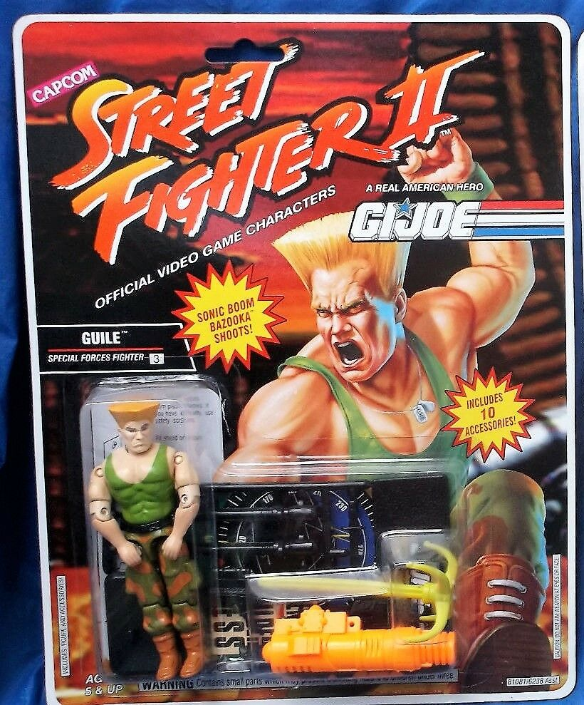 G.I. GI Joe 1993 Guile Street Fighter II 2 Comme neuf on Card 100%