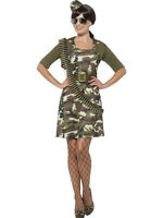 Womens Army Costume Camouflage Camo Military Dress Halloween Adult S M L Xl