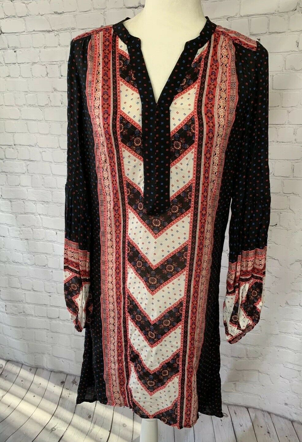Free People Dress Größe Small Long Sleeve High Low Boho Festival Urban Outfitters