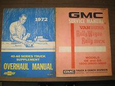 1972 GMC VANDURA RALLY WAGON RALLY STX  MANUAL 1500 2500 3500 WITH SUPPLEMENT