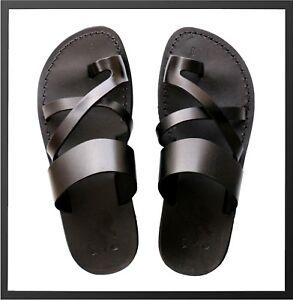 3c2cce47cbf228 Biblical Jesus Black Sandals For Women Strap Flip Flop US 6-10 EU 36 ...